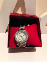 Used Diamond look silver watch  in Dubai, UAE