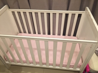 Used Mothercare crib with mattress in Dubai, UAE