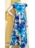 Used Long blue floral dress-Medium in Dubai, UAE