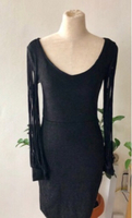 Used Metallic Black Mini Dress/ L in Dubai, UAE