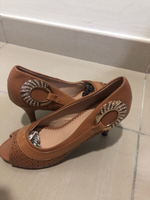 Used New Golden brown shoes  in Dubai, UAE