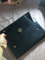 Used dkny black clutch w/purse in Dubai, UAE