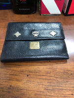 Used Black leather MCM wallet preloved  in Dubai, UAE