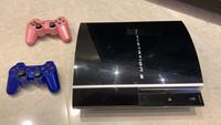 Used PS3 + 24 games + 2 colored controllers in Dubai, UAE
