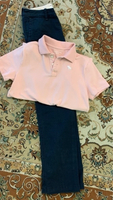Used Abercrombie Kids -Navy Trouser Pink Polo in Dubai, UAE
