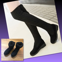 Used #KNITTING LONG WOOL BOOT SHOES/ 39 in Dubai, UAE
