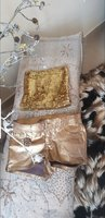 MS Golden shorts and top size 8uk