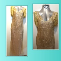 Maxi dress Full glittery tulle size L