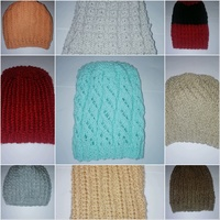Lovely hand knit beanies (fits all)