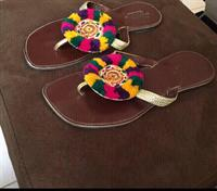 Used Handmade slippers. Used only once. in Dubai, UAE