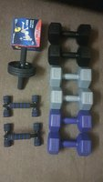 Used Full set dumbbells with Abs wheel in Dubai, UAE