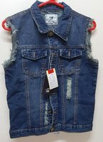Used Denim vest, M ! in Dubai, UAE
