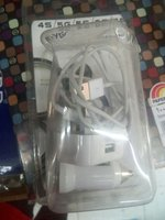 Used Iphone&ipadcharger 2pcs+car charger+cabl in Dubai, UAE
