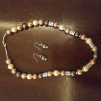 Used Multi color pearl silver necklace earing in Dubai, UAE