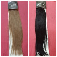 Cougar clip in remy hair 2 sets