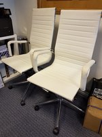 Used High Back Executive White Office Chairs in Dubai, UAE