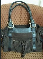 Used Suade leather bag in Dubai, UAE