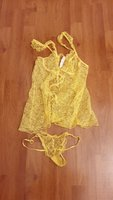 Used victorias secert yellow size S in Dubai, UAE