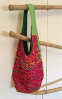 Colourful embroidered handbag
