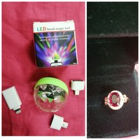 Used USB MAGIC BALL LIGHT + 18K RUBY RING in Dubai, UAE