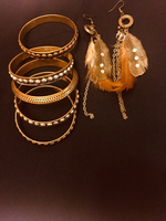 Bundle offer metal bangles and earnings