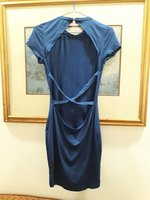 Feminine strapped blue dress NEW
