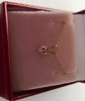 Used 10k Real Gold Heart Pendant with chain in Dubai, UAE