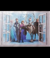 Used Frozen Sticky Wallpapers (6pcs) in Dubai, UAE
