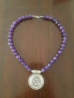 Used Amethyst silver Necklace in Dubai, UAE