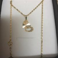 Necklace With Pendant 18k Realgold # 1.08 Grms # Brandnew# 100 Percnt Gold 750 #18k