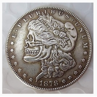 Used Morgan Dollar skull zombie US coin in Dubai, UAE