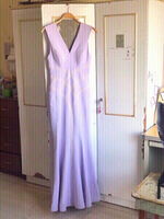 Used New Lavender pearl evening gown💜read👇 in Dubai, UAE