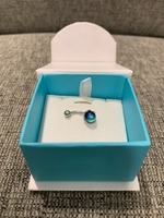 Used Stainless steel belly button piercing in Dubai, UAE