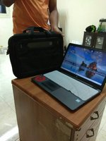 Used Hp touchscreen laptop 1tb/8gbwin10 8 mon in Dubai, UAE