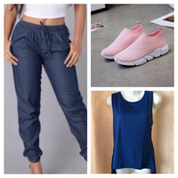 Used Jeans-Top and sneakers 37 in Dubai, UAE