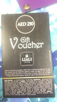 Used Liali jewelry 250 dhs gift voucher in Dubai, UAE