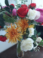 Used Artificial flower bouquet with vase in Dubai, UAE