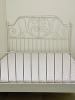 Used IKEA Queen Bed with Slats & Mattress in Dubai, UAE
