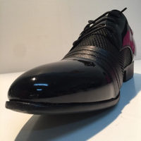 Used Mens shoe in black size 45 in Dubai, UAE
