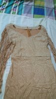 Used Metal Sequins Dress Waist Size XL Golden in Dubai, UAE