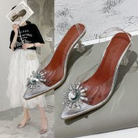 Used New transparent cinderella shoes size 37 in Dubai, UAE
