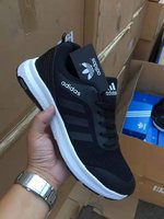 Used Adidas black shoes in Dubai, UAE