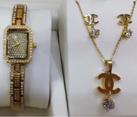 Used Watch +Fashion Jewelry Set: in Dubai, UAE