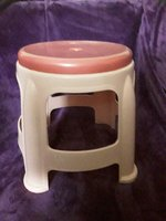 Used Pink colour stool rarely used in Dubai, UAE