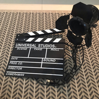 Mini studio lamp and Clapboard