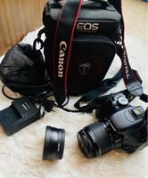 Used Canon 600D with free Macro lens Adapter in Dubai, UAE