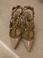 Used Valentino rockstuds pumps pink beige  in Dubai, UAE