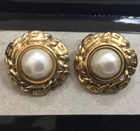 Used Vintage signed Givenchy Faux Pearl Earrings. No Box in Dubai, UAE
