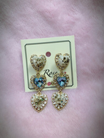Used Elegant hearts earrings  in Dubai, UAE