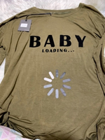 Used Maternity top(Ohma!)with cute text print in Dubai, UAE